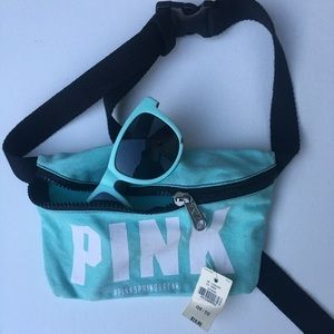 PINK Sunglasses & Fanny Pack Set